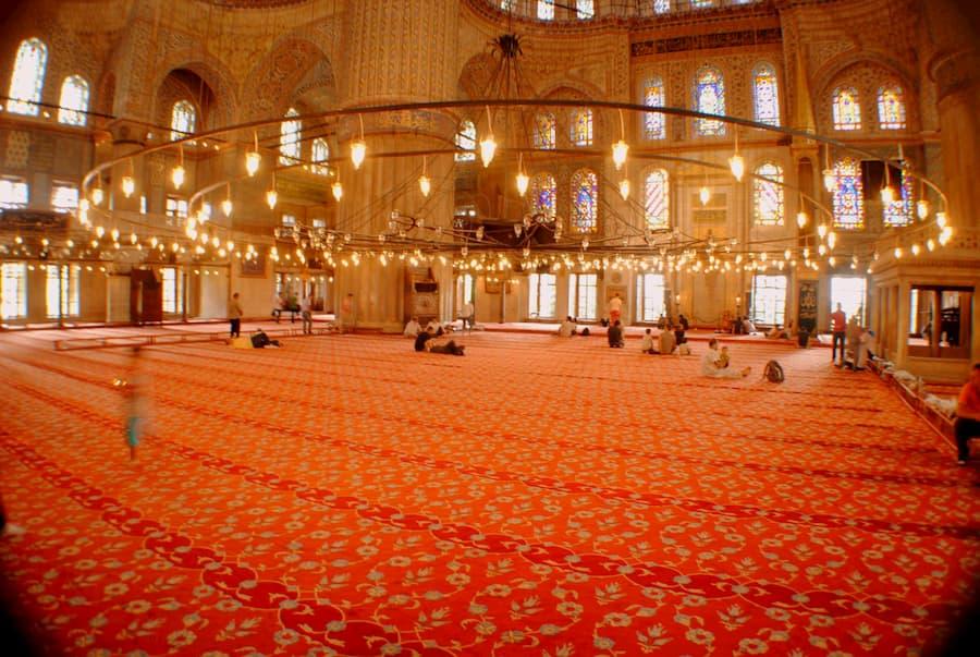 Mezquita Azul Interior Estambul