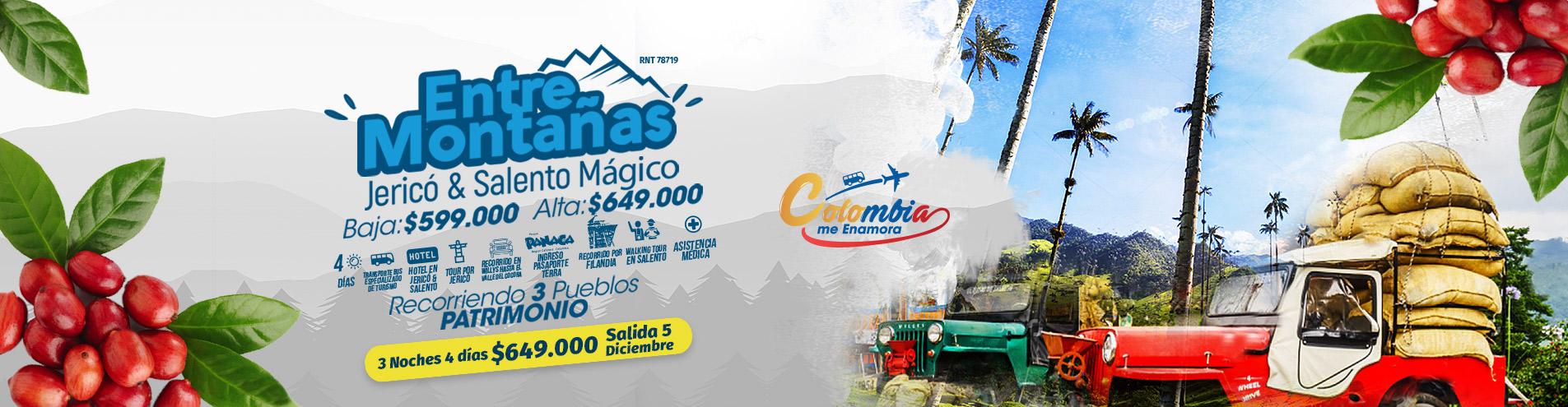 Plan Entre Montañas Jericó, Salento y Filandia Turibus Colombia